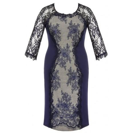 Синя сукня з  мережевом RINASCIMENTO