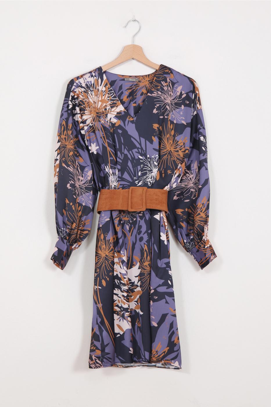 Сукня з квіточним принтом з широким поясом Dixie