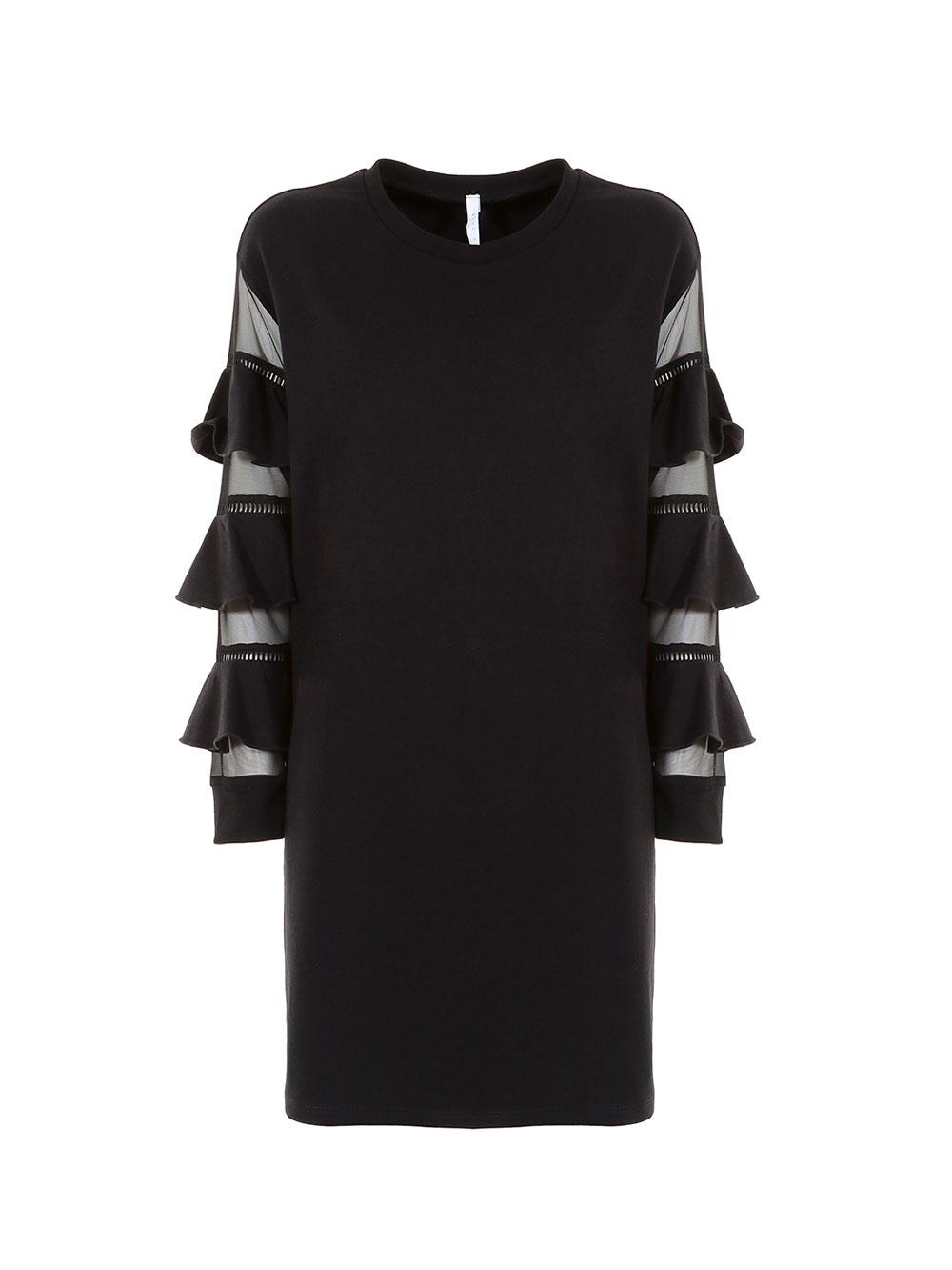 Чёрное хлопковое платье Imperial