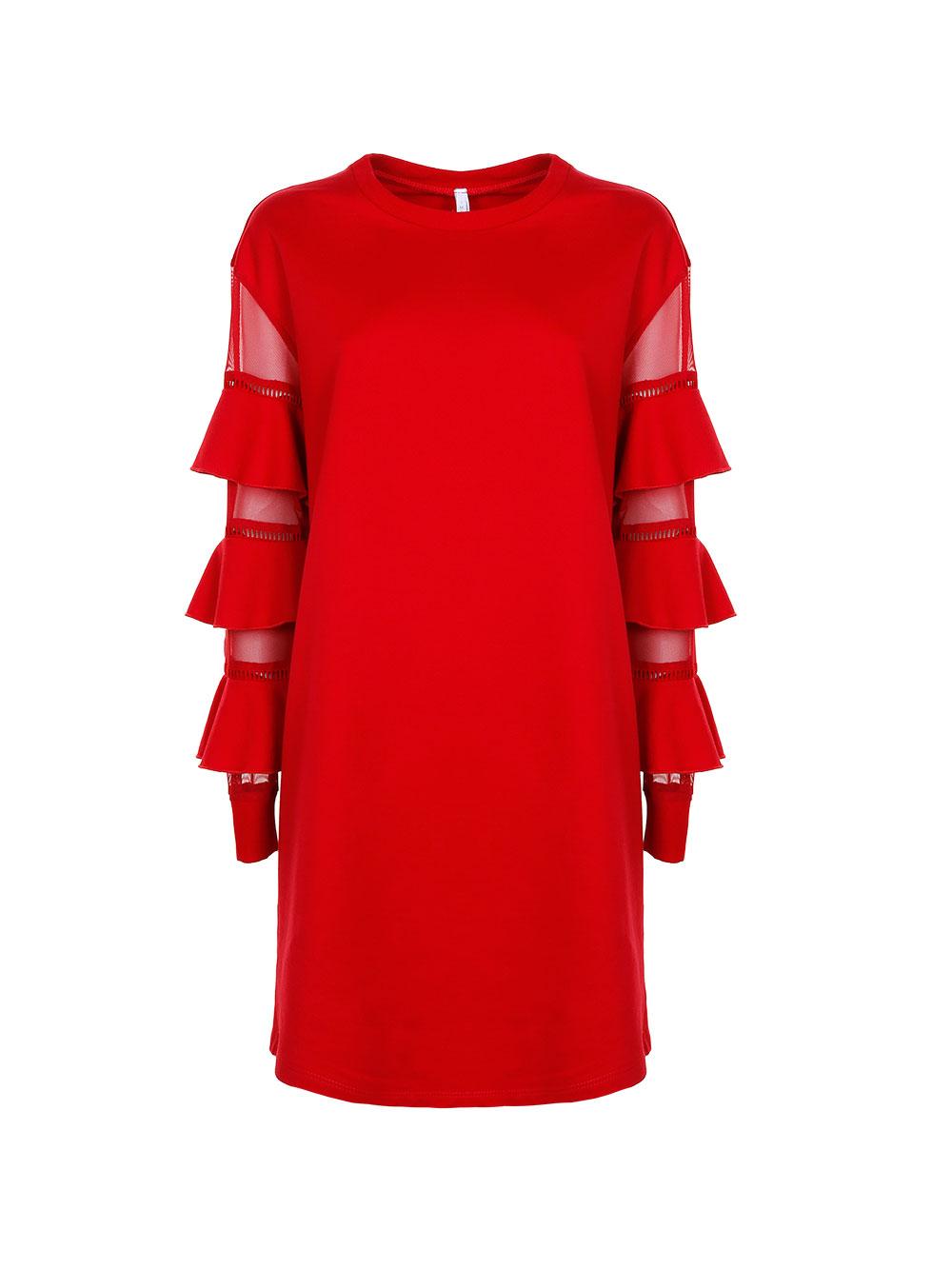 Хлопковое платье с интересными рукавами Imperial