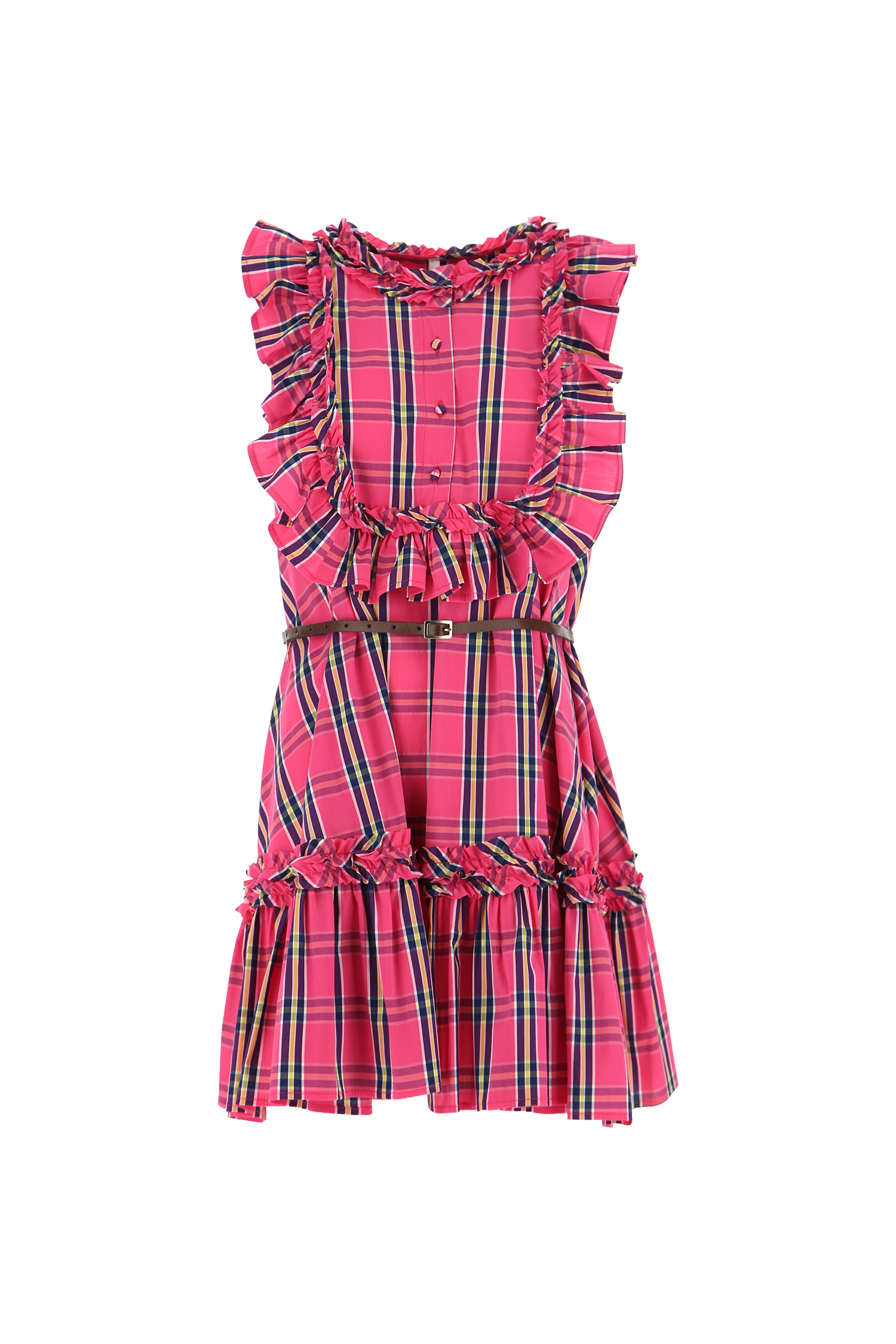 Ярко рожева сукня, в клітінку Imperial