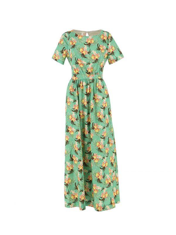 Длинное хлопковое платье, с цветочным принтом Imperial