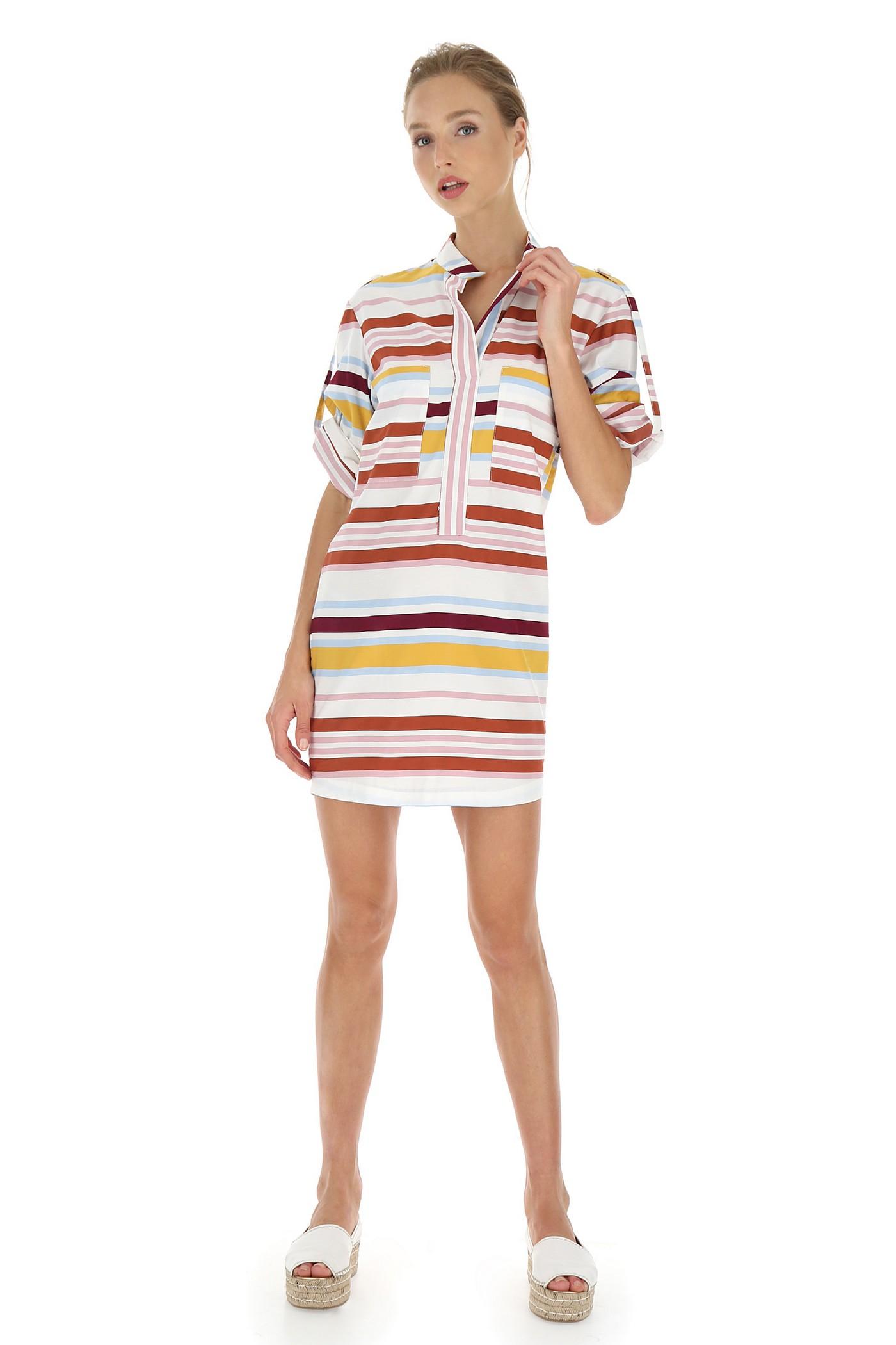 Візкозна сукня в яскраву смужку Imperial