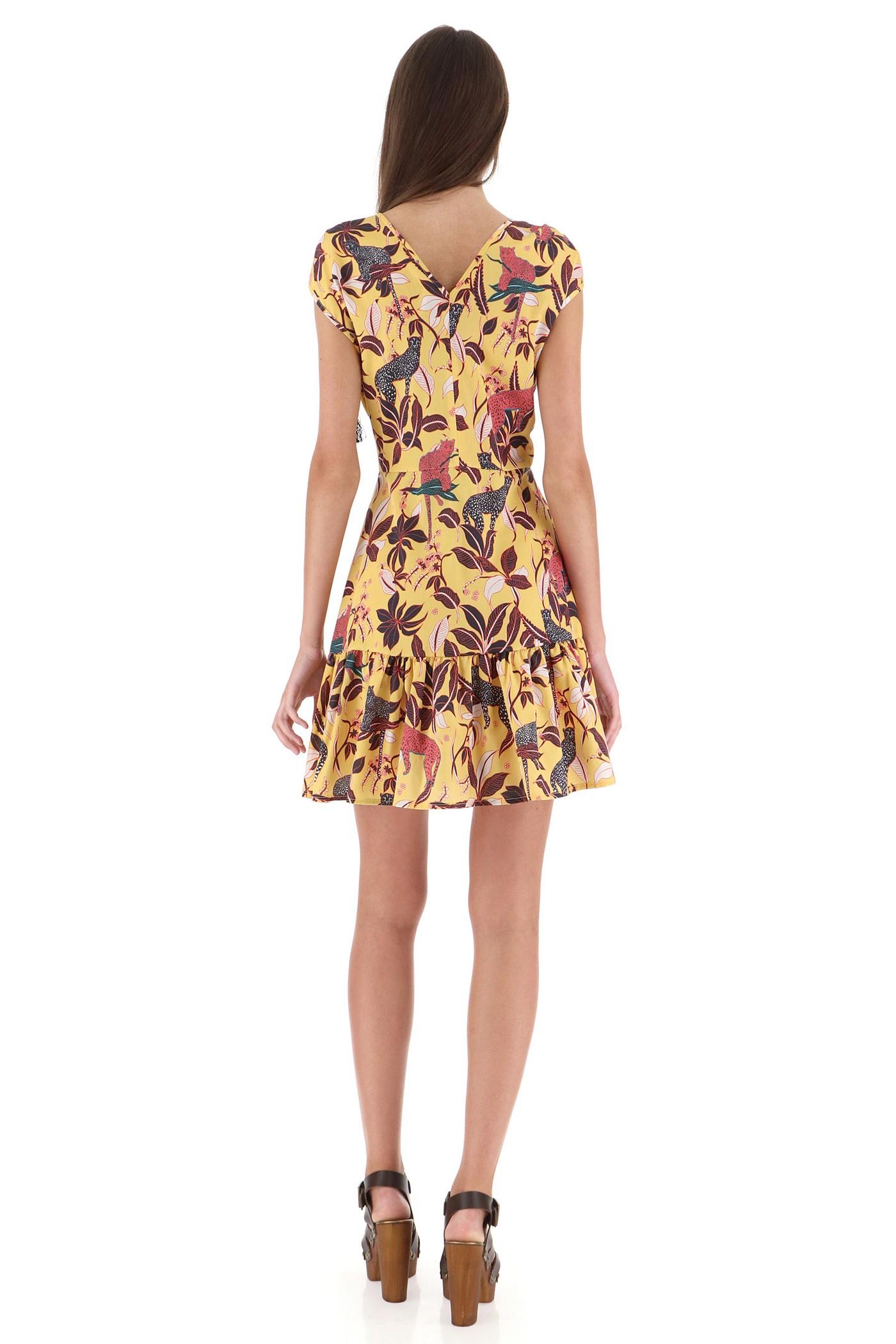 Хлопковое желтое  платье,с африканским принтом Imperial