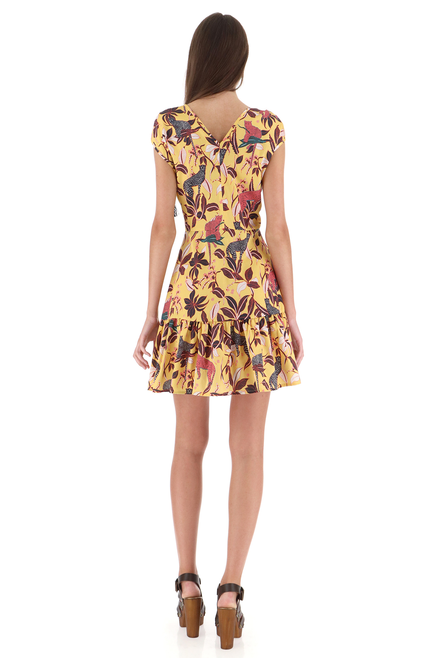 Жовта сукня, з прінтом сафарі Imperial