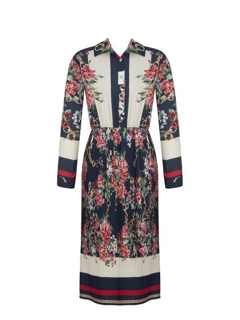 Сукня гофре з квітковим принтом Rinascimento