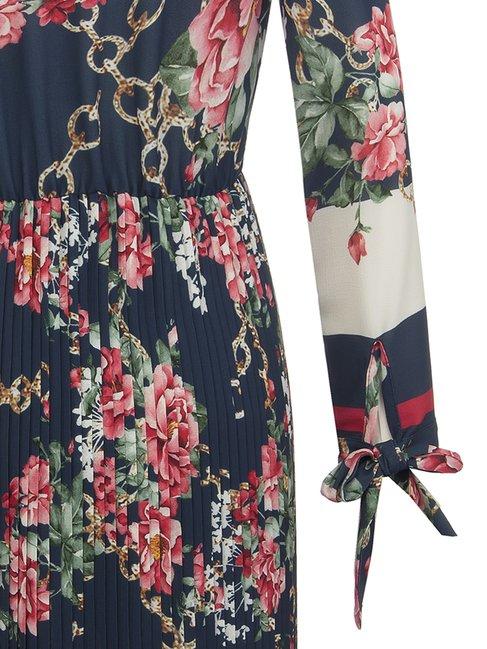 Платье гофре  с цветочным принтом Rinascimento