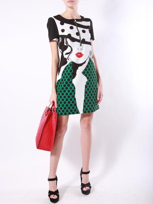 Платье с принтом аниме Rinascimento