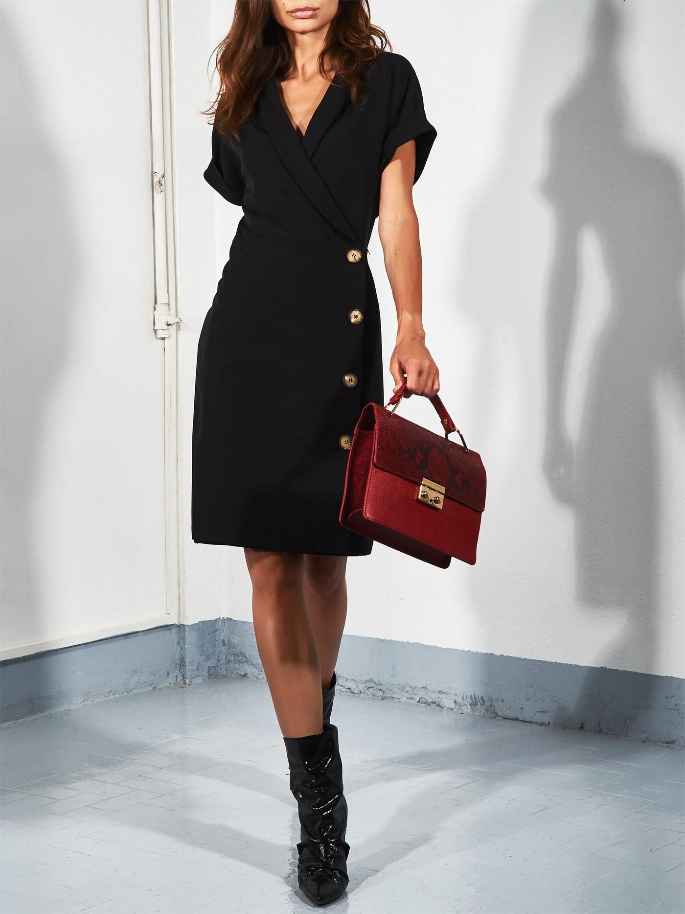 Платье с короткими рукавами, с пуговицами Rinascimento