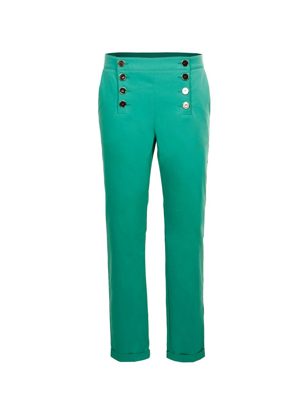 Зелені бавовняні брюки з гудзіками Imperial