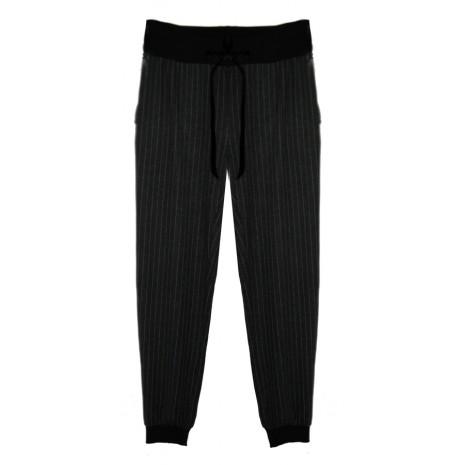 Серые брюки в полоску Imperial