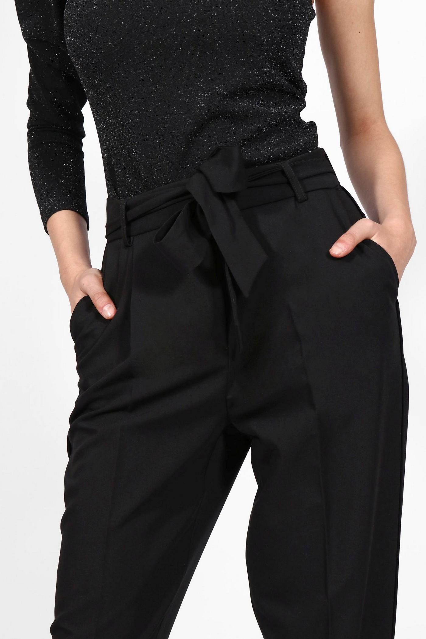 Чёрные брюки с бантом на поясе Imperial