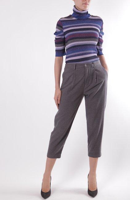 Вискозные брюки с лампасом Rinascimento