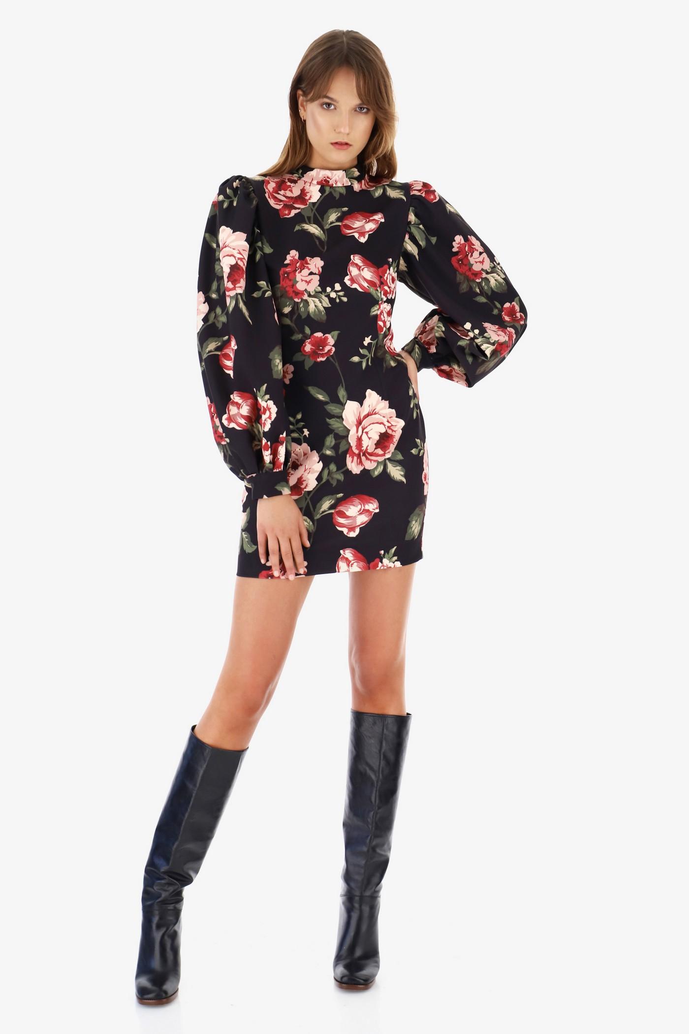 Короткое платье с принтом розы, итальянского бренда Imperial