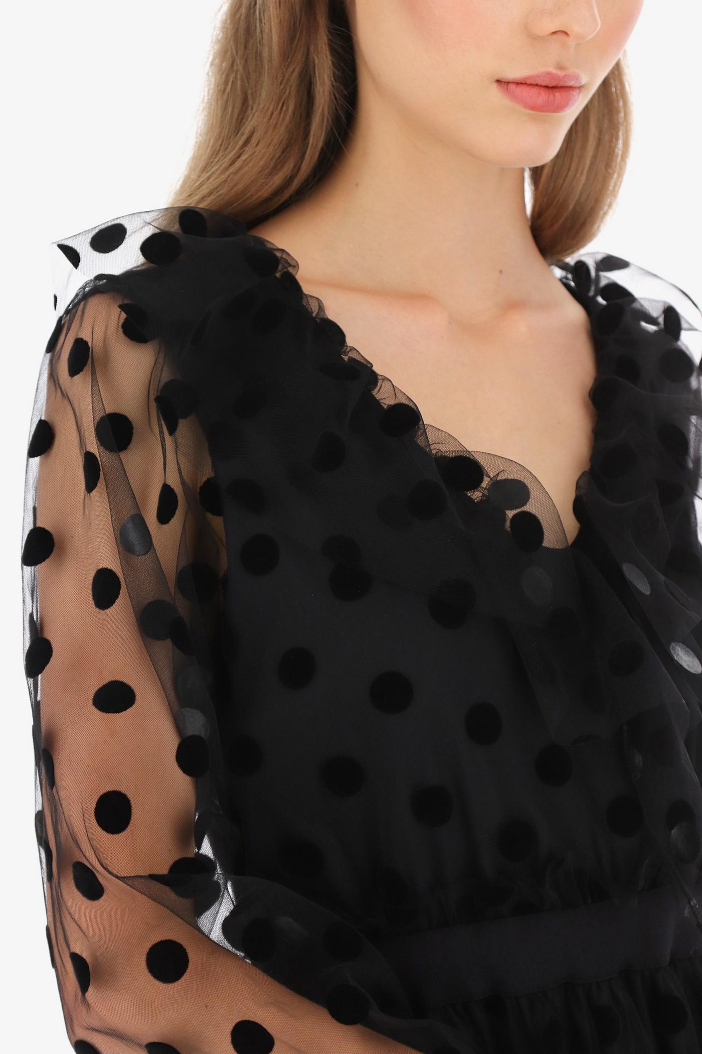 Коротенькое платье в крупный горох, итальянского бренда