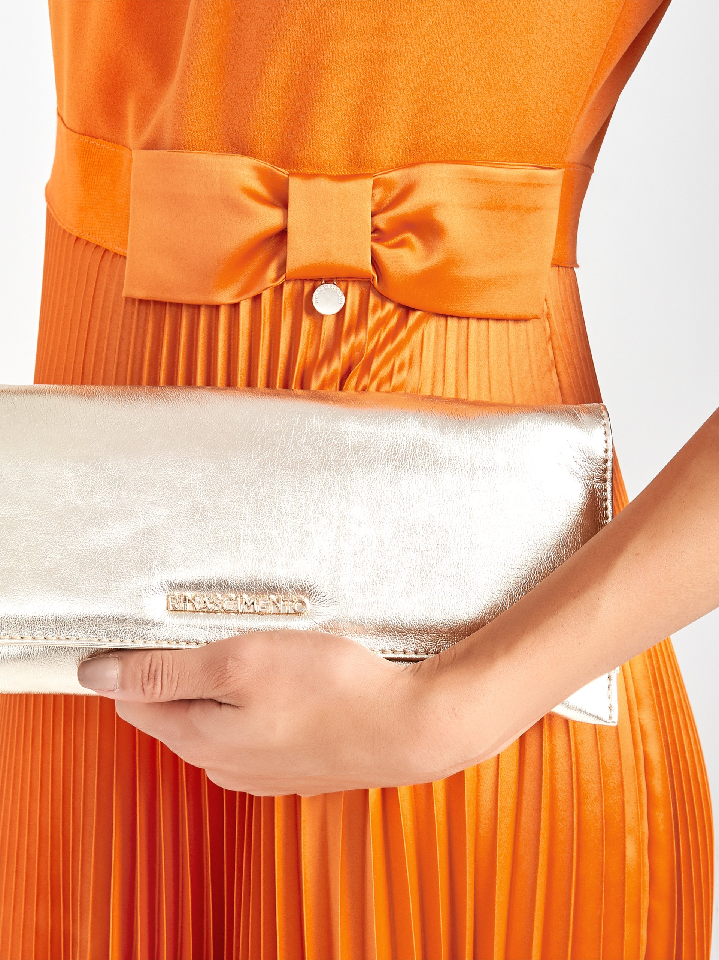 Помаранчова сукня италийського бренду Rinascimento