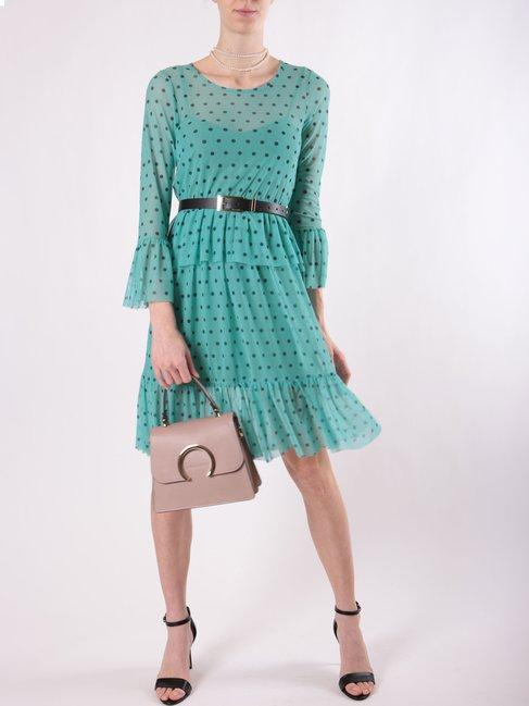 Нежное платье в горох, с длинным рукавом Rinascimento