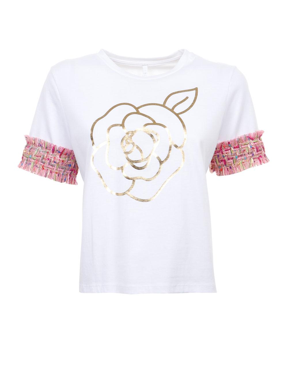 Хлопковая футболка с твидовыми рукавами Imperial
