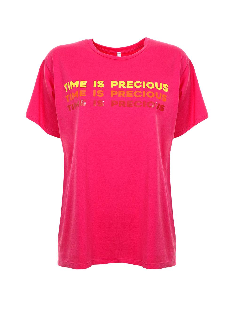Футболка з написом Time is Precious  Imperial