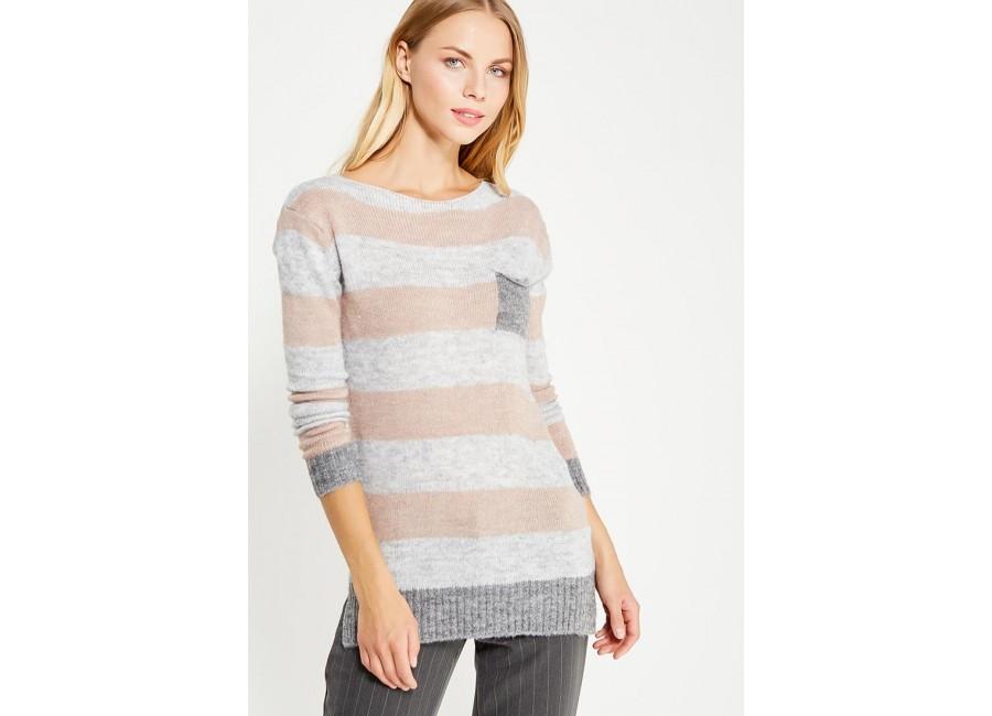 Бежевый свитер в полоску Rinascimento