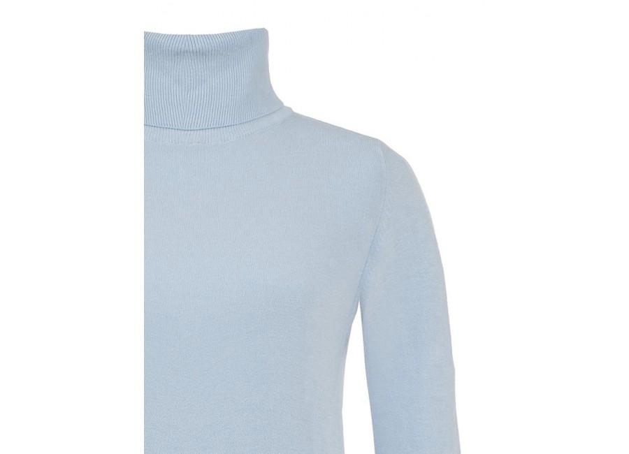 Блакитний светр з  високим воротом RINASCIMENTO
