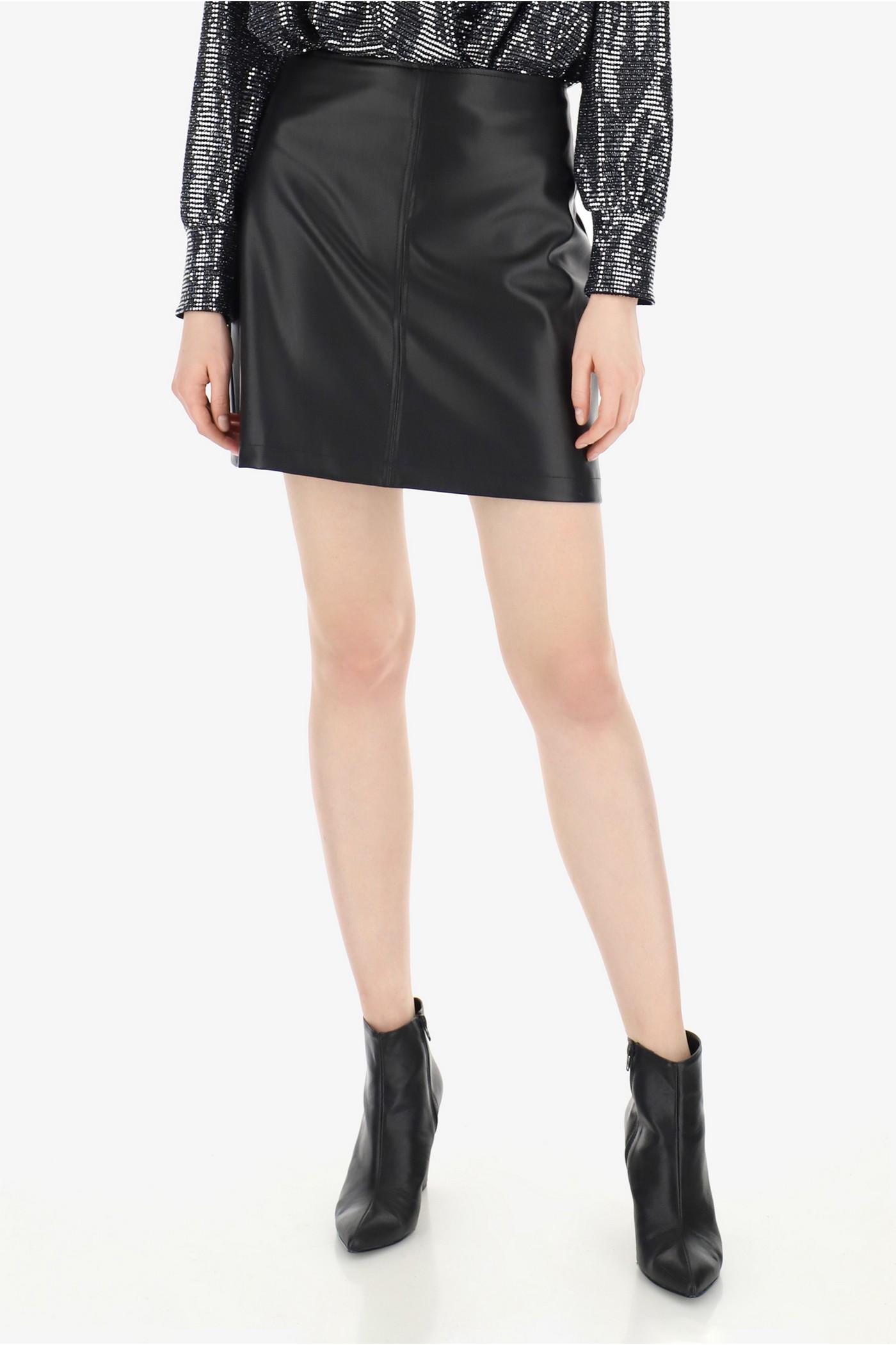 Короткая юбка из эко кожиImperial